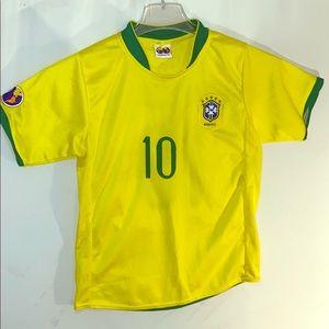 Fair Play Brasil Jersey number 10 Ronaldinho Sz 8